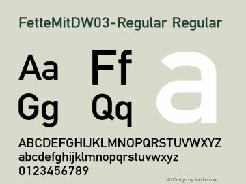 FetteMitDW03-Regular