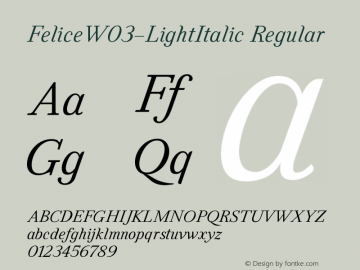 FeliceW03-LightItalic