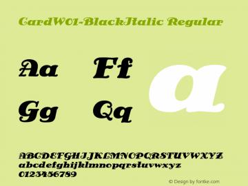 CardW01-BlackItalic