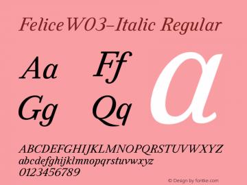 FeliceW03-Italic