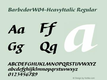 BarbedorW04-HeavyItalic