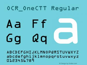 OCR_OneCTT