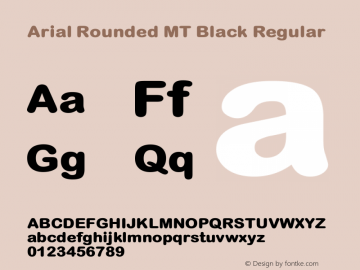 Arial Rounded MT Black