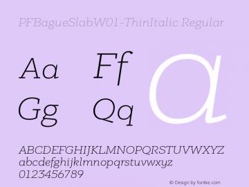 PFBagueSlabW01-ThinItalic