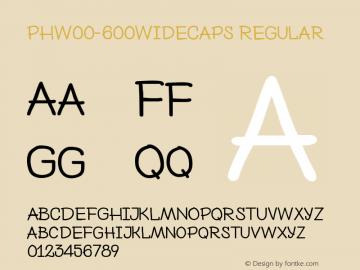 PHW00-600WideCaps
