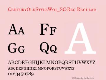 CenturyOldStyleW01_SC-Reg