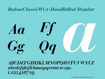 BodoniClassicW01-HandBdItal