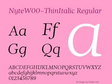 NyteW00-ThinItalic