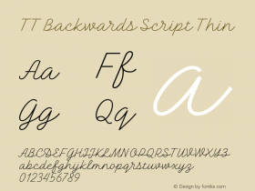 TT Backwards Script