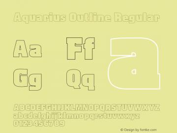 Aquarius Outline