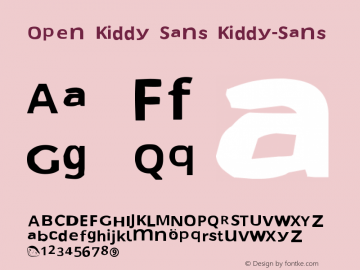Open Kiddy Sans