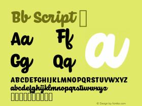 Bb Script