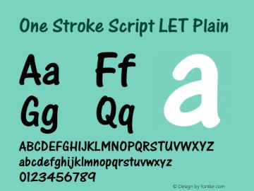 One Stroke Script LET