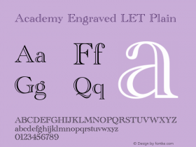 Academy Engraved LET
