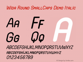 Wida Round SmallCaps Demo
