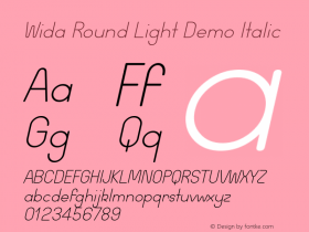 Wida Round Light Demo