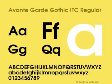 Avante Garde Gothic ITC