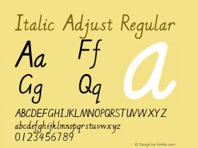 Italic Adjust