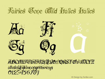 Fairies Gone Wild Italics