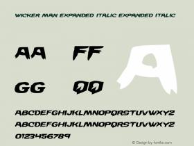 Wicker Man Expanded Italic