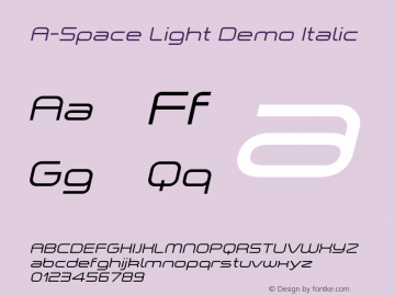A-Space Light Demo
