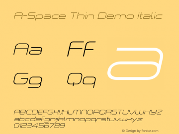 A-Space Thin Demo