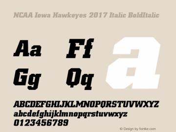 NCAA Iowa Hawkeyes 2017 Italic