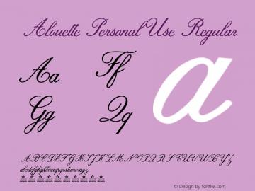 Alouette Personal Use