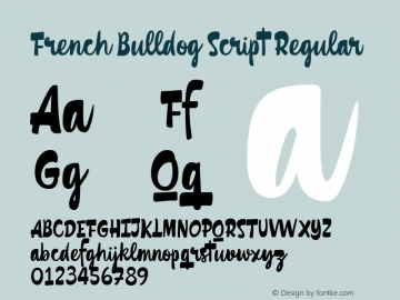 French Bulldog Script