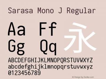 Sarasa Mono J