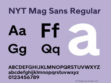 NYT Mag Sans