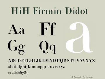 ☞HiH Firmin Didot