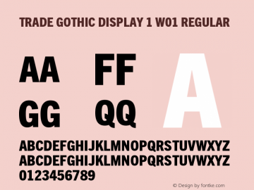 Trade Gothic Display 1 W01