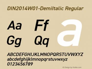 DIN2014W01-DemiItalic