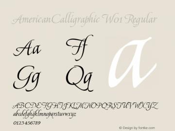 AmericanCalligraphic W01