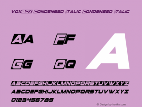 voxBOX Condensed Italic