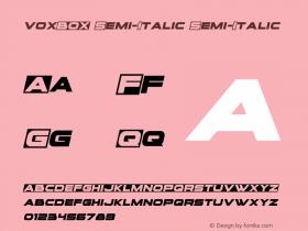 voxBOX Semi-Italic