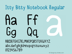 Itty Bitty Notebook