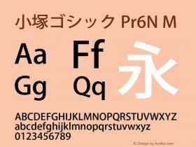 小塚ゴシック Pr6N