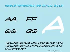WebLettererPro BB Italic