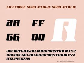 Lifeforce Semi-Italic