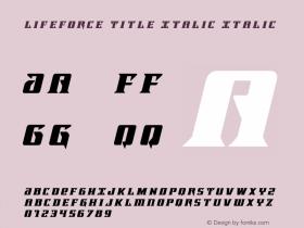 Lifeforce Title Italic