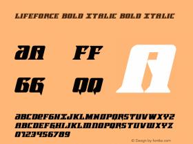 Lifeforce Bold Italic