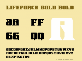 Lifeforce Bold