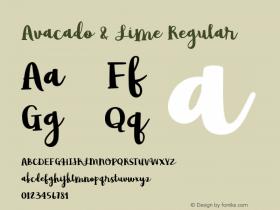 Avacado & Lime