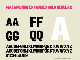 Malamondo Expanded Bold