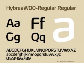HybreaW00-Regular