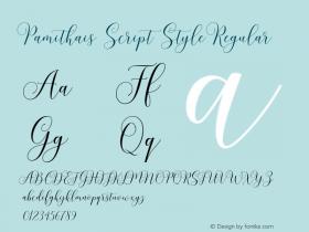 Pamithais Script Style