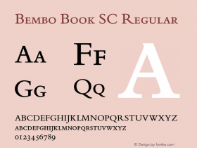 Bembo Book SC