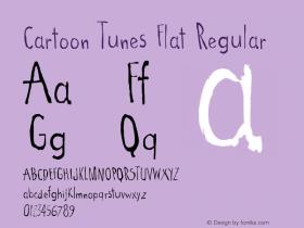 Cartoon Tunes Flat